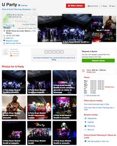 U-Party Grupo Musical Versátil en Yelp