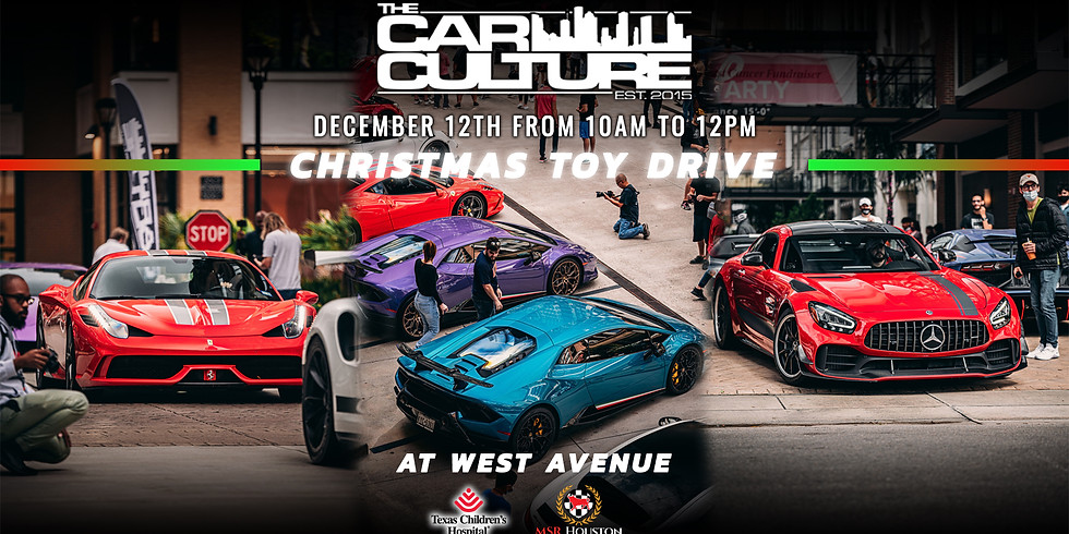 The Car Culture: December 2020 Toy drive!