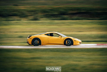 Ferrari 458 at our track day