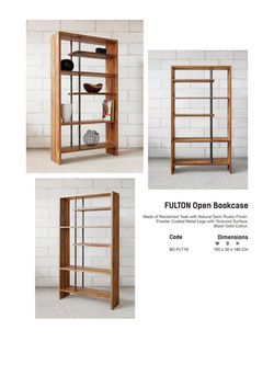 16. FULTON - Open Book Case