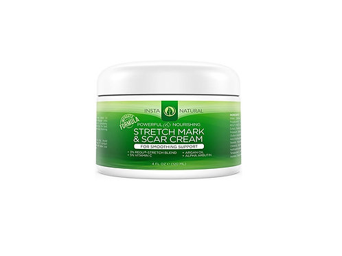 InstaNatural Stretch Mark & Scar Cream - Formula for Scar Removal & Prevention f