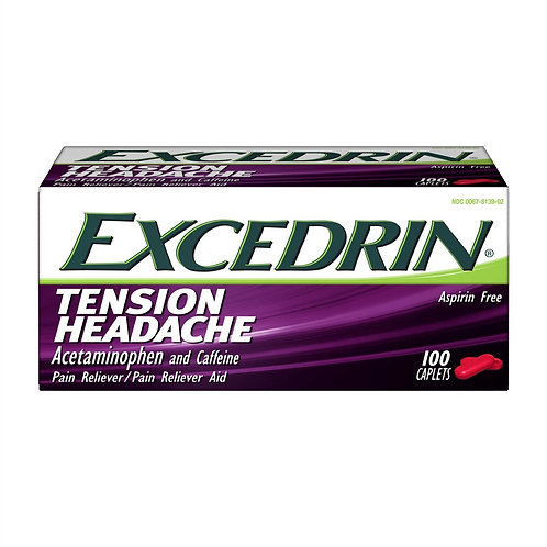 Excedrin Tension Headache Aspirin-Free Caplets for Head, Neck, and Shoulder Pain
