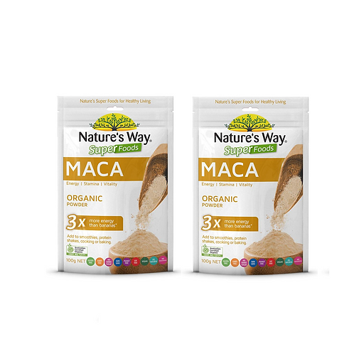 2x Nature's Way Super MACA 100g - (100% Australian Certified Organic)