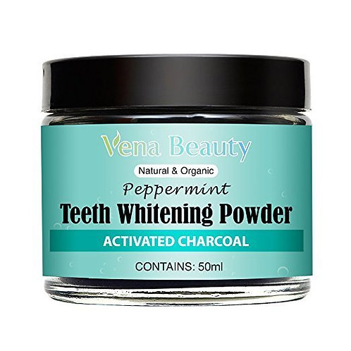 Vena Beauty Natural Teeth Whitening Powder Made with Organic Bamboo Activated Ch