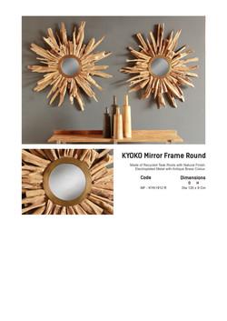 19. KYOKO Mirror Frame Round