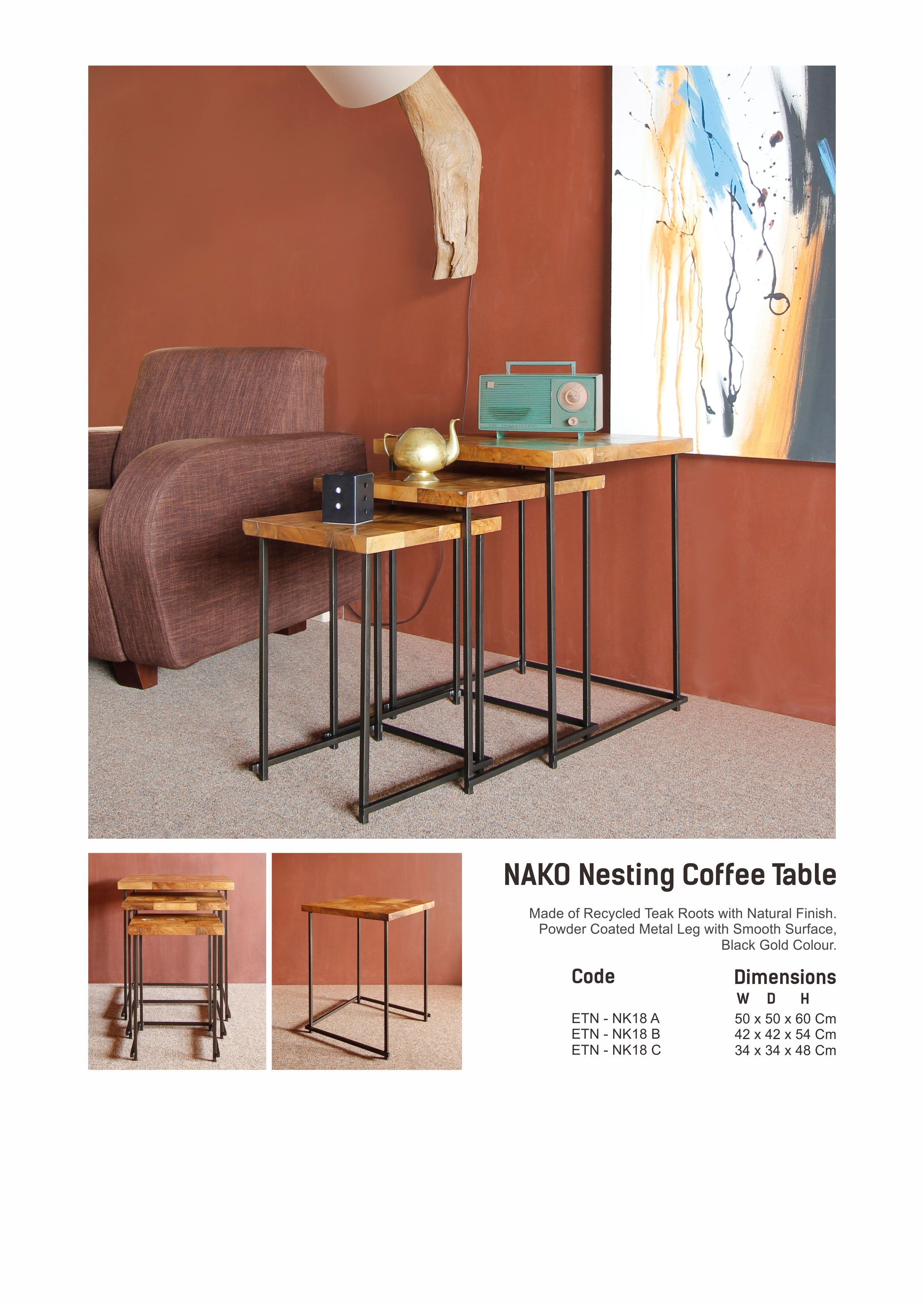 18. NAKO Nesting Table