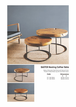 17. BAXTER Nesting Table