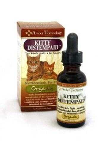 Kitty Distempaid All-Natural Organic Supplement for Feline Distemper 1oz