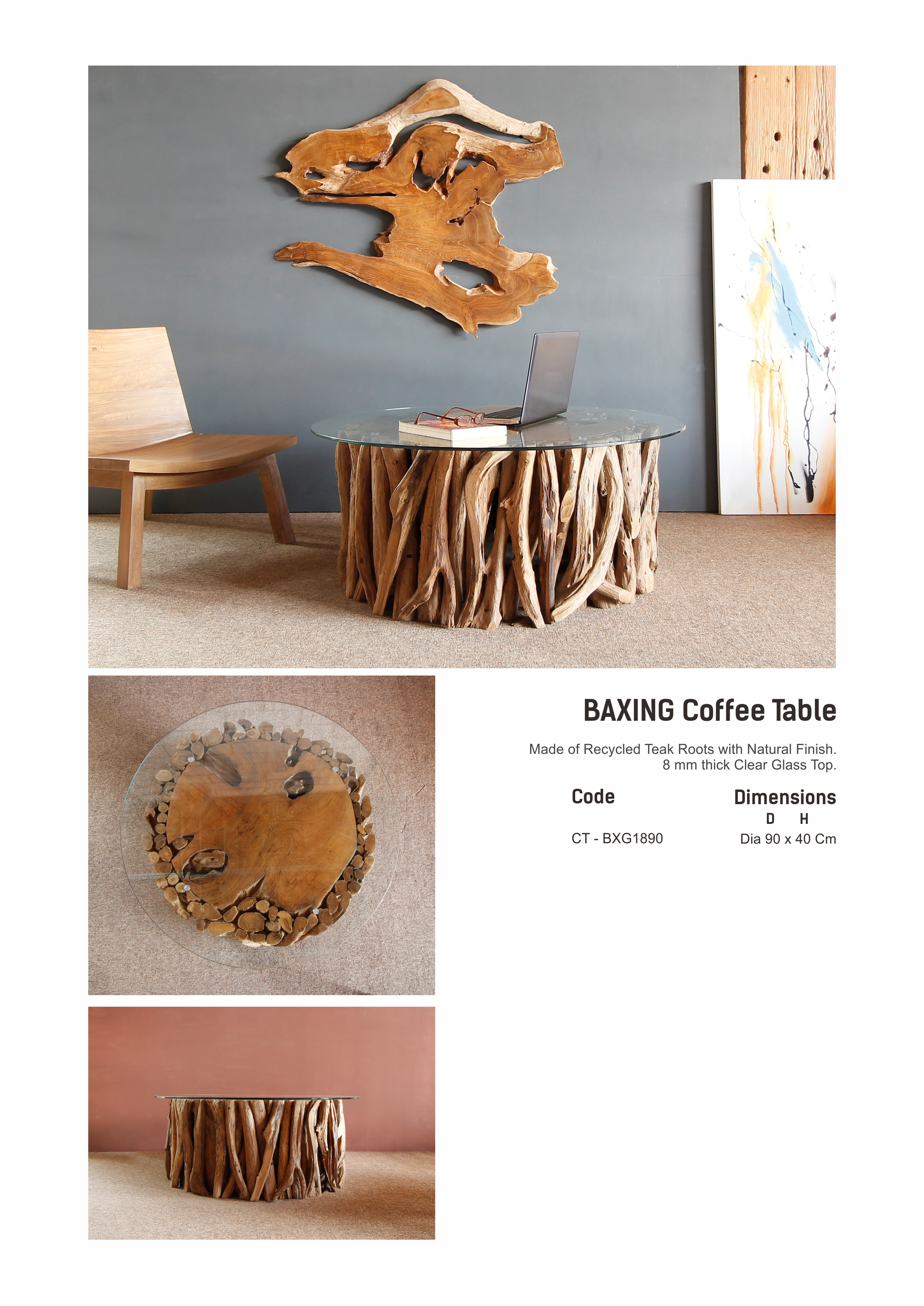 18. BAXING Coffee Table