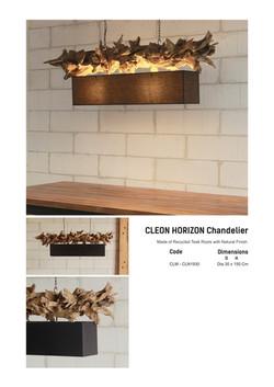 19. CLEON HORIZON Chandelier