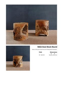 16. NAGA ROUND - Stool