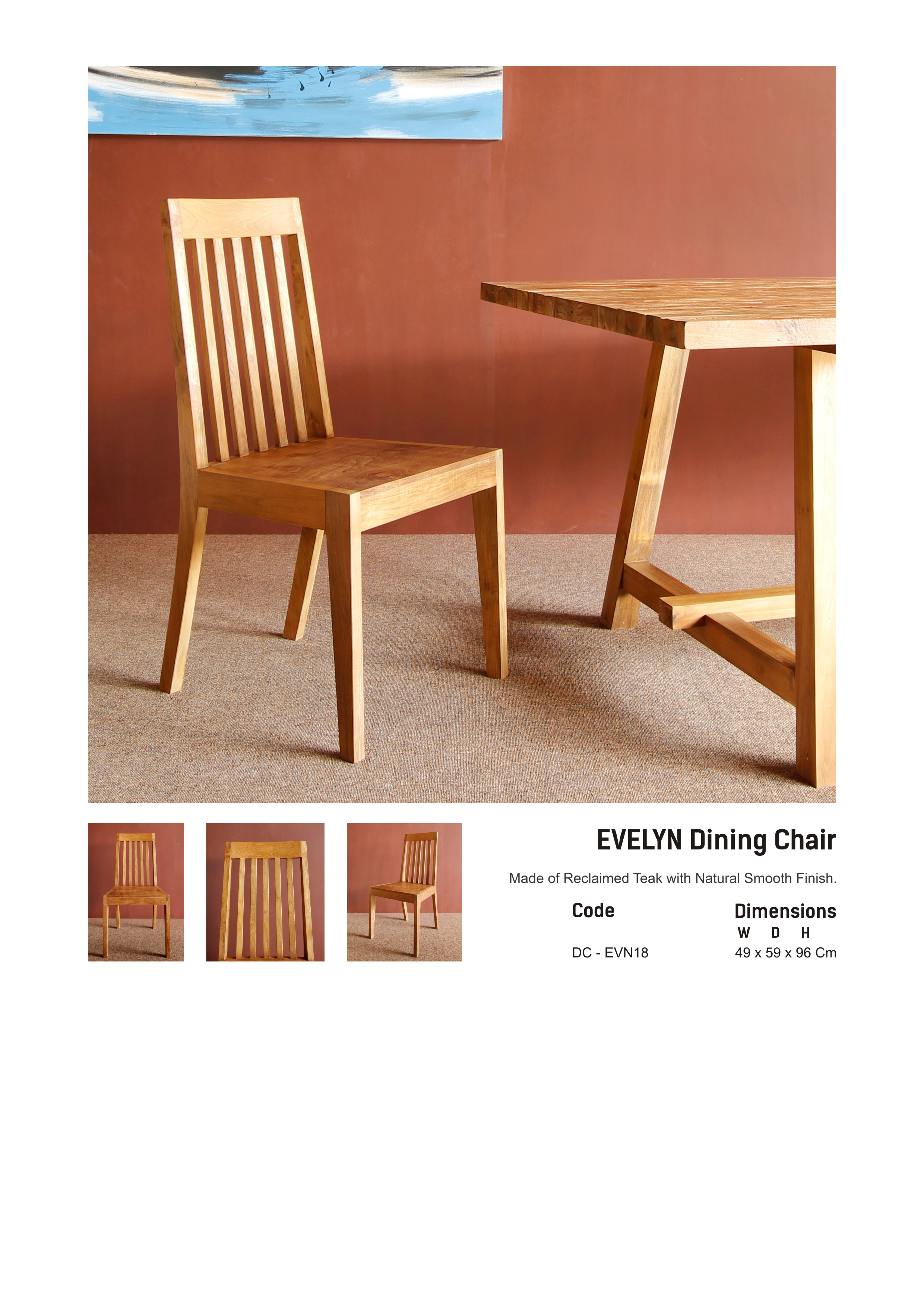 18. EVELYN Dinning Chair