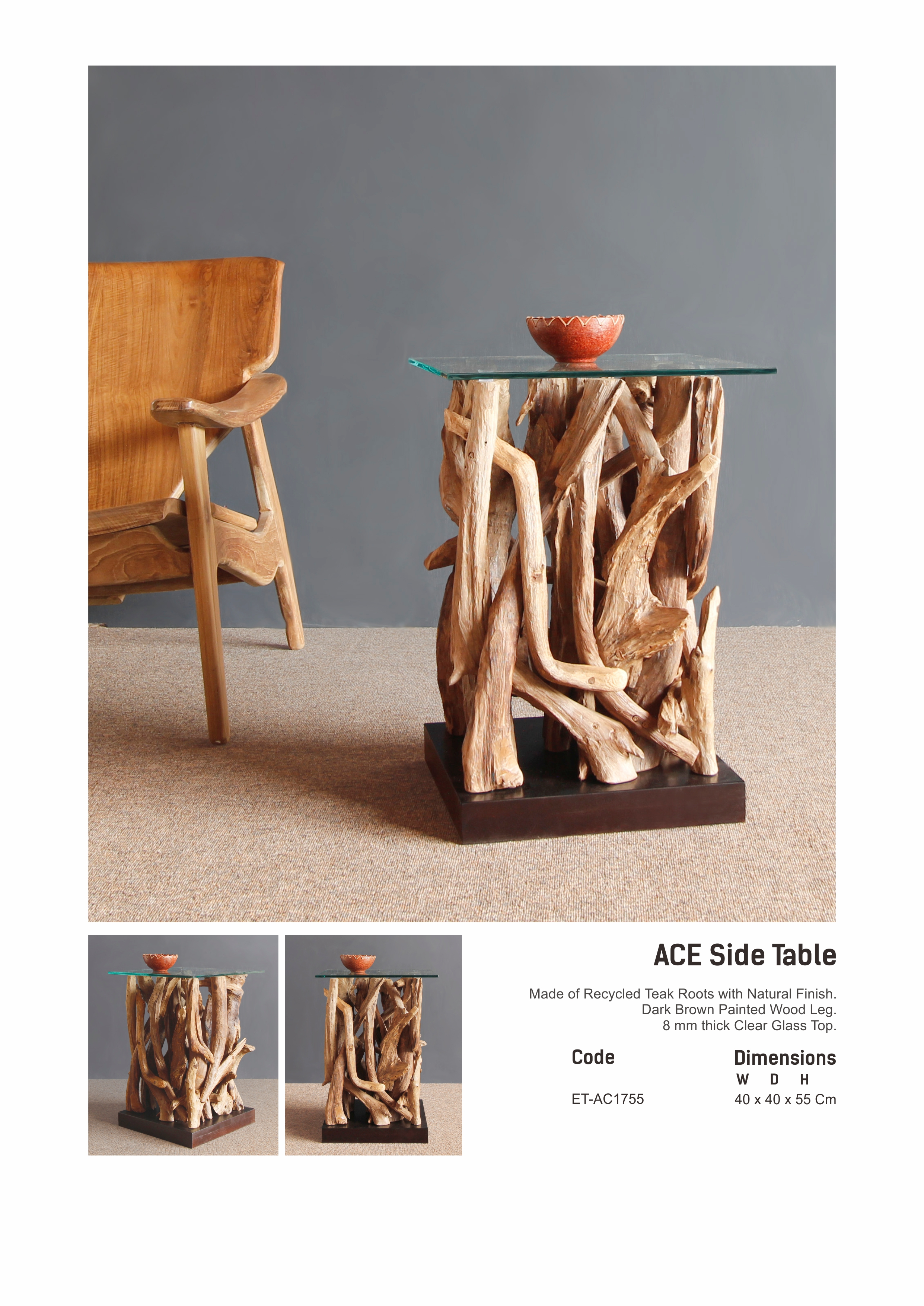 17. ACE Side Table Square