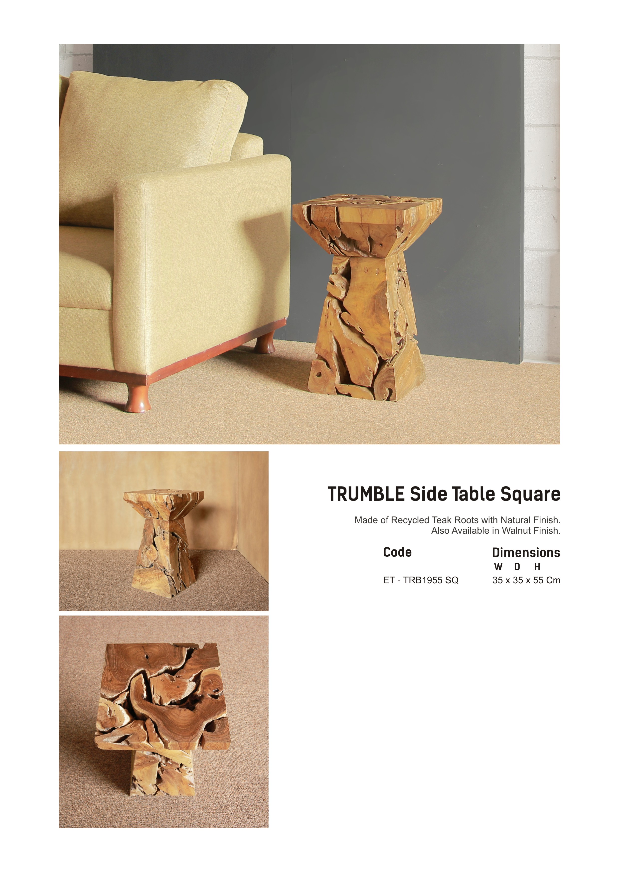 19. TRUMBLE Side Table Square