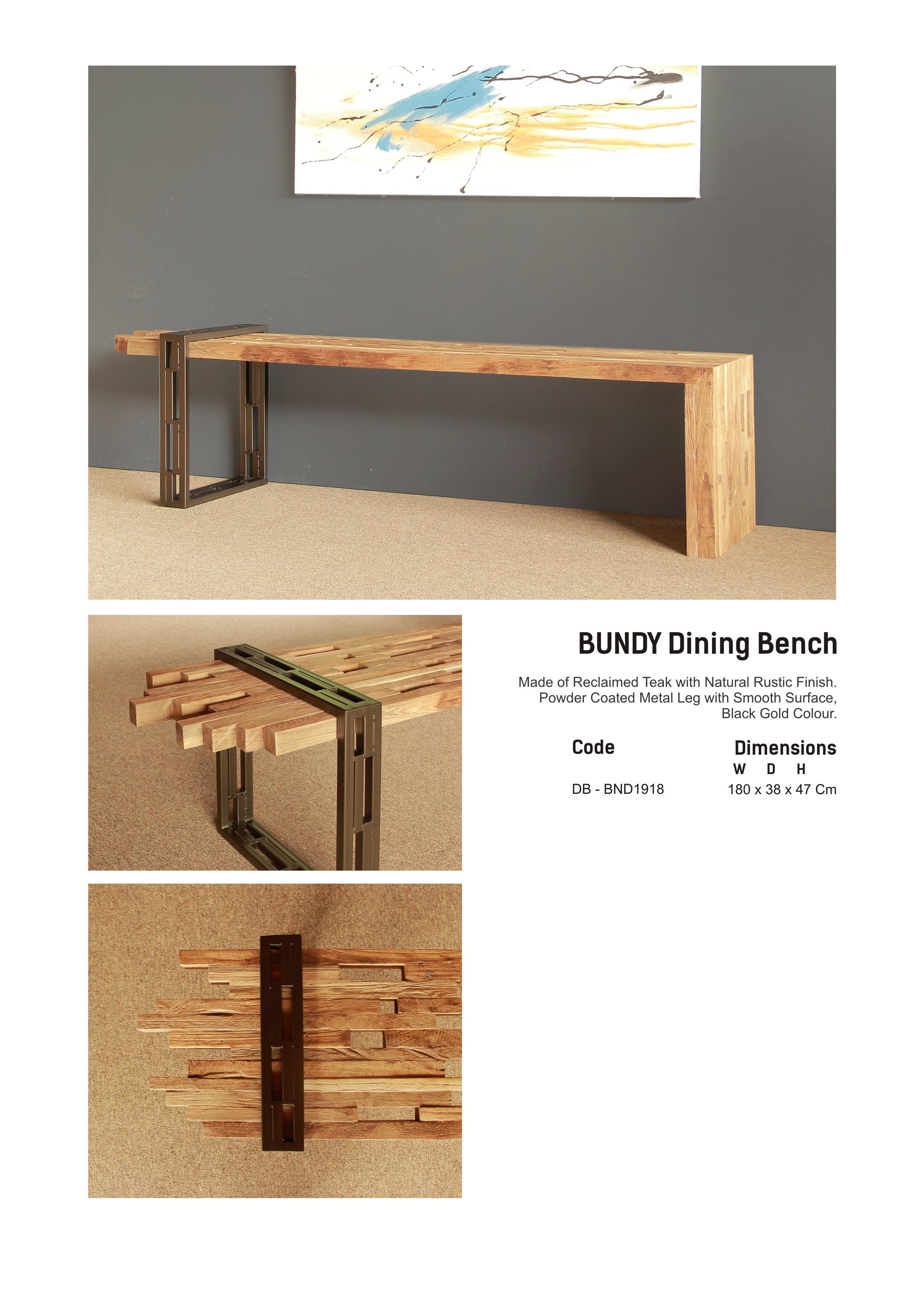 19. BUNDY Dining Bench