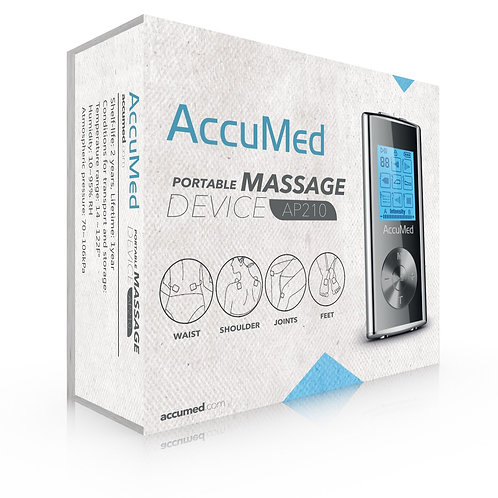 AccuMed AP210 Portable TENS Unit Electronic Pulse Massager