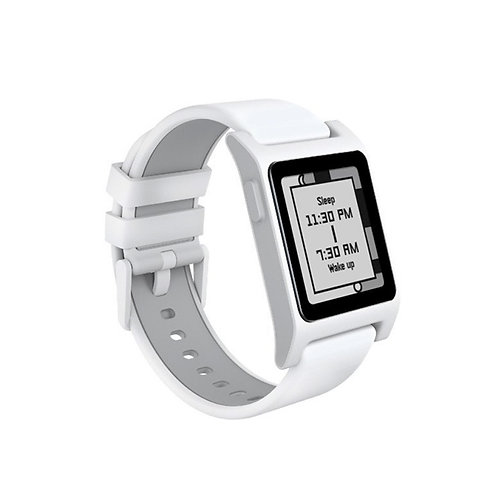 Pebble 2 + Heart Rate Smart Watch- White