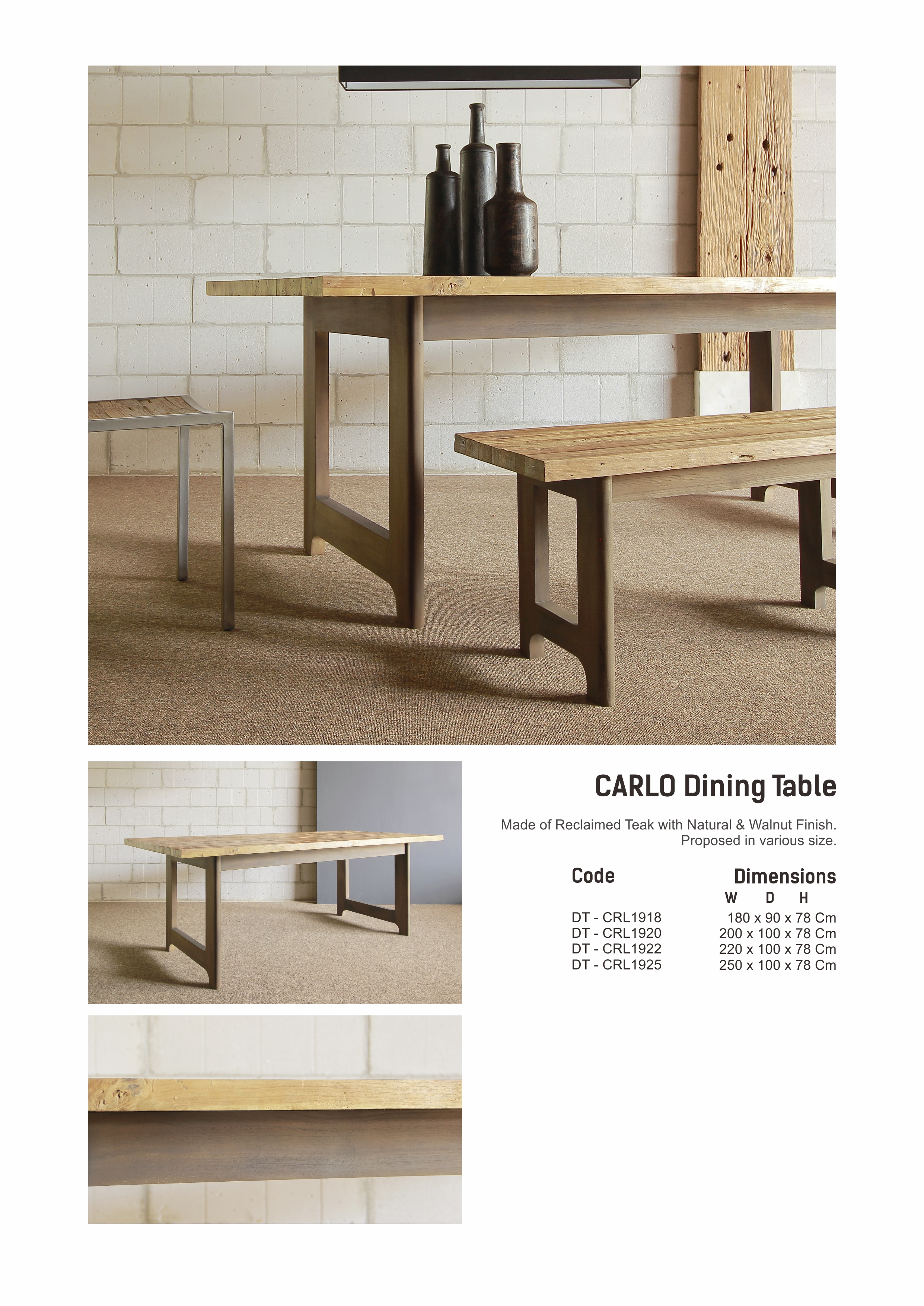 19. CARLO Dining Table