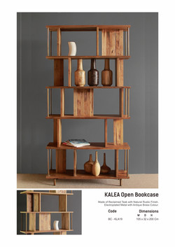 19. KALEA Open Bookcase