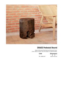 19. DRAGO Pedestal Round