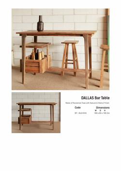 19. DALLAS Bar Table