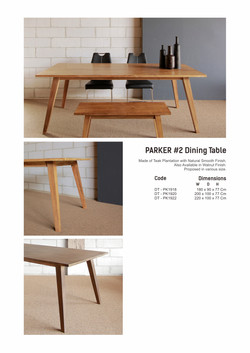 19. PARKER #2 Dining Table