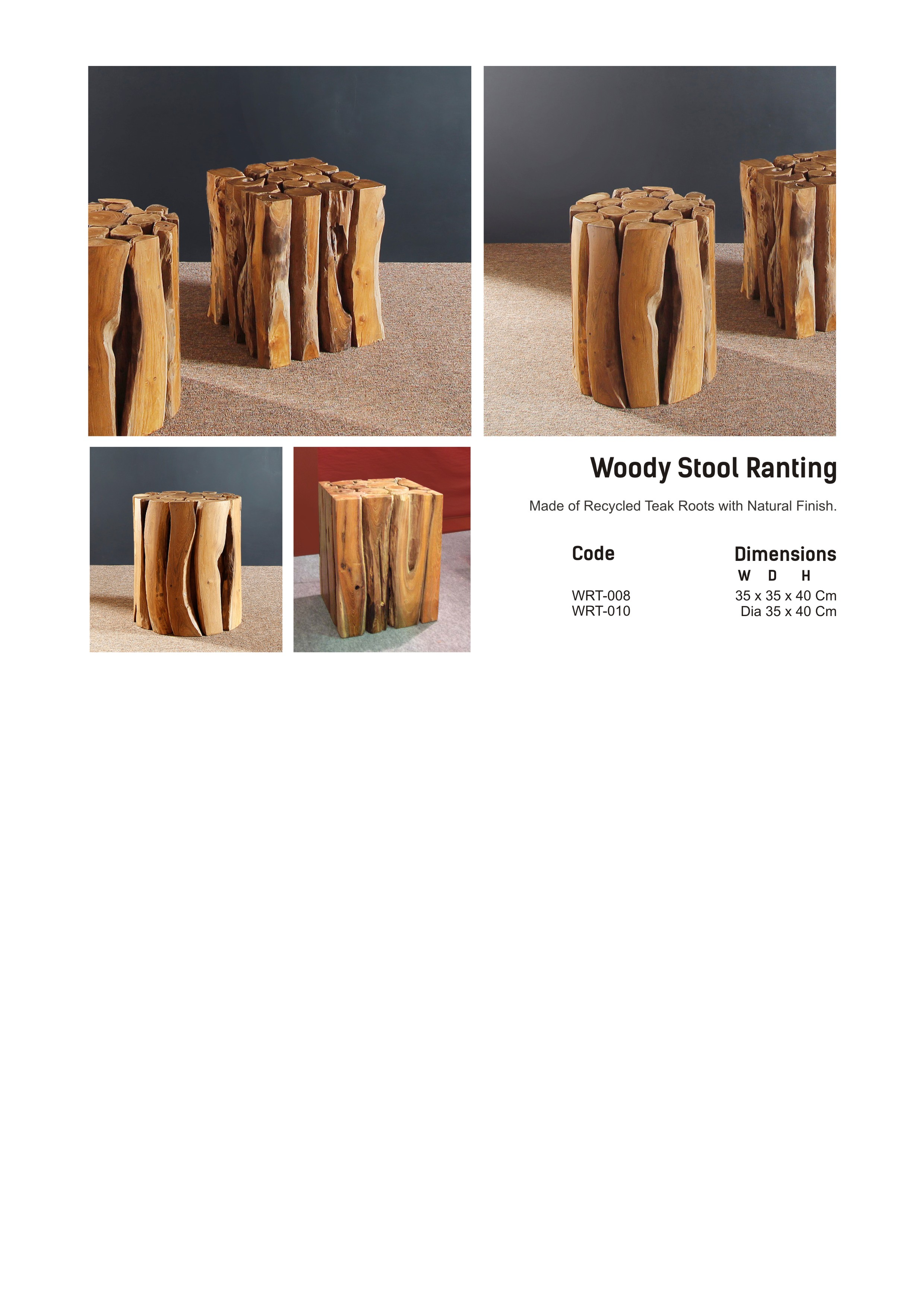 14. WOODY - Stool
