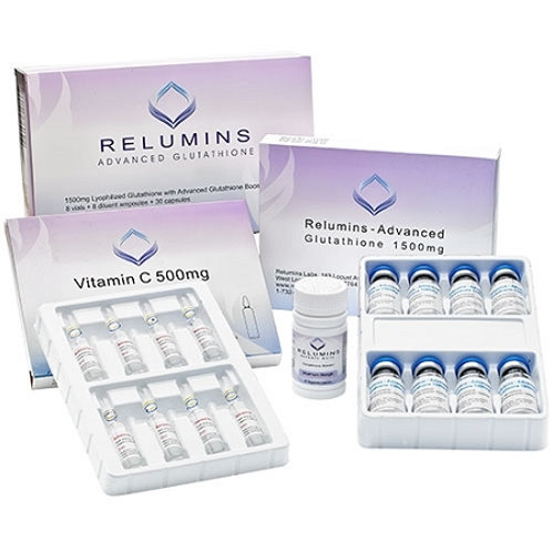 Relumins Advance White IV Glutathione IV Complete Set 2000mg x 8 (no booster)