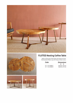 18. FLUTTED Nesting Table