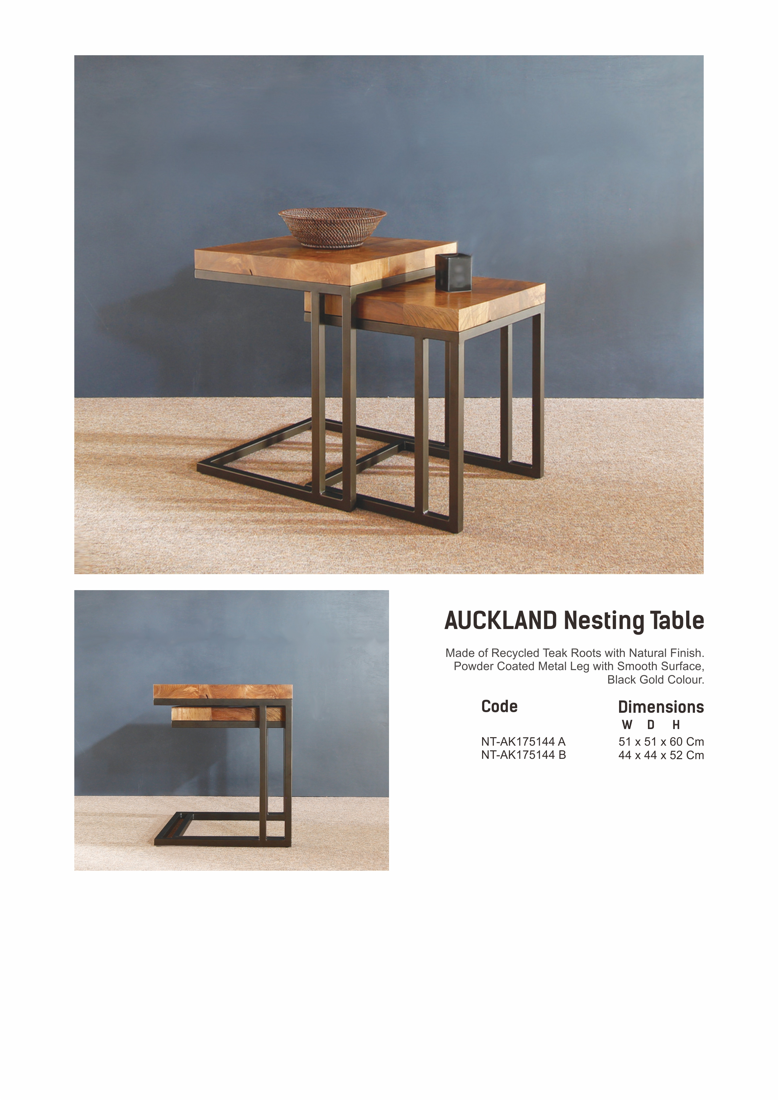 17. AUCKLAND Nesting Table