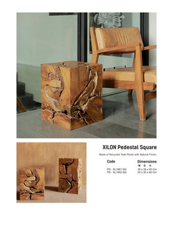 19. XILON Pedestal Square