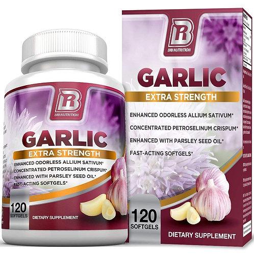 BRI Nutrition Pure Odorless Garlic - 120 Softgels - 1000mg