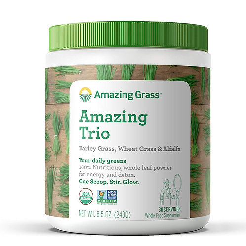 Amazing Grass Organic Amazing Trio Greens Powder with Wheat, Barley, Alfalfa