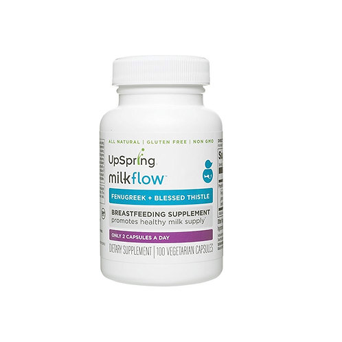 UpSpring Milkflow All-Natural Fenugreek and Blessed Thistle Capsules for Breastm