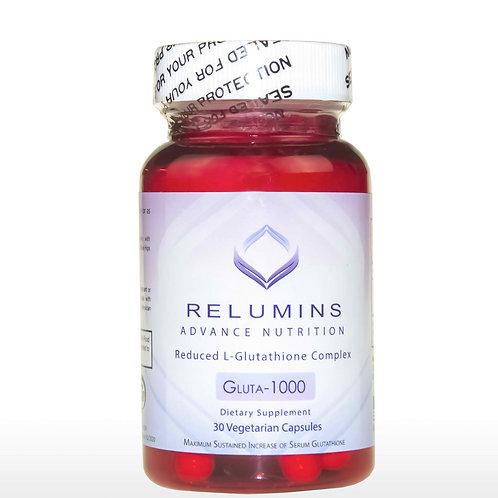 Relumins Advance Nutrition GLUTA 1000 - Reduced L-Glutathione Complex - 30 Caps