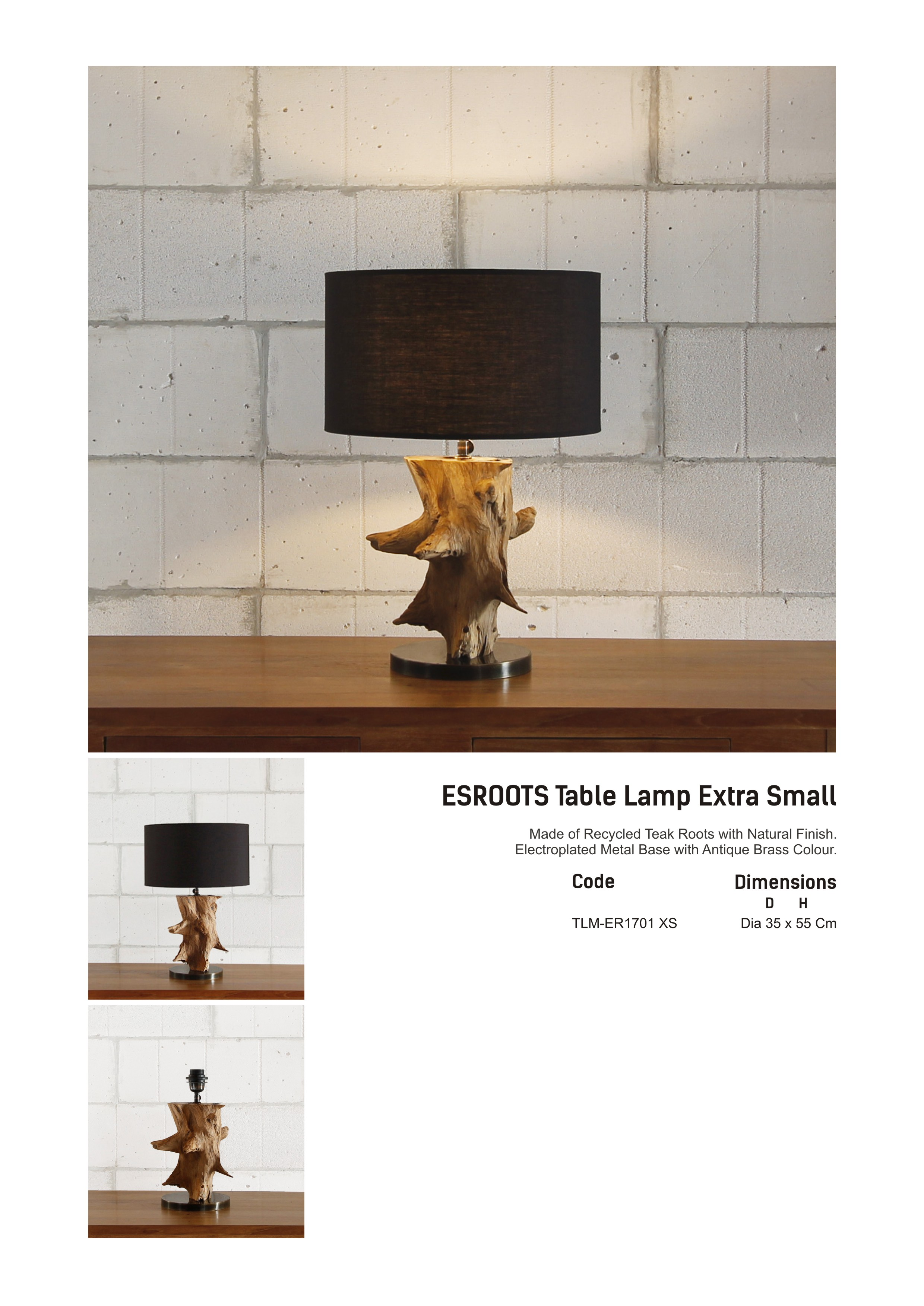 17. ESROOTS Table Lamp XS