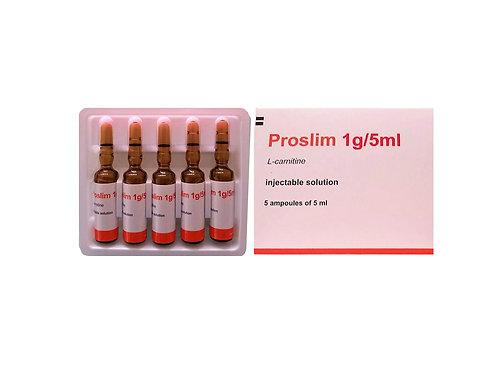 Proslim L-Carnitine Injectable IV Complete Set 5vials 1gram