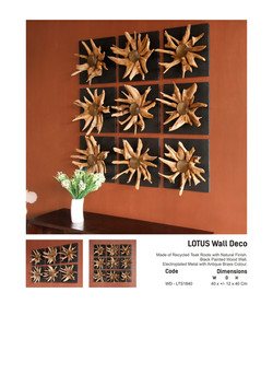 18. LOTUS Wall Deco