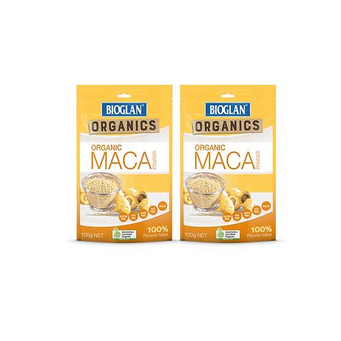 2 x Bioglan Organic Maca Powder - 100g each (Australian Certified Organic)