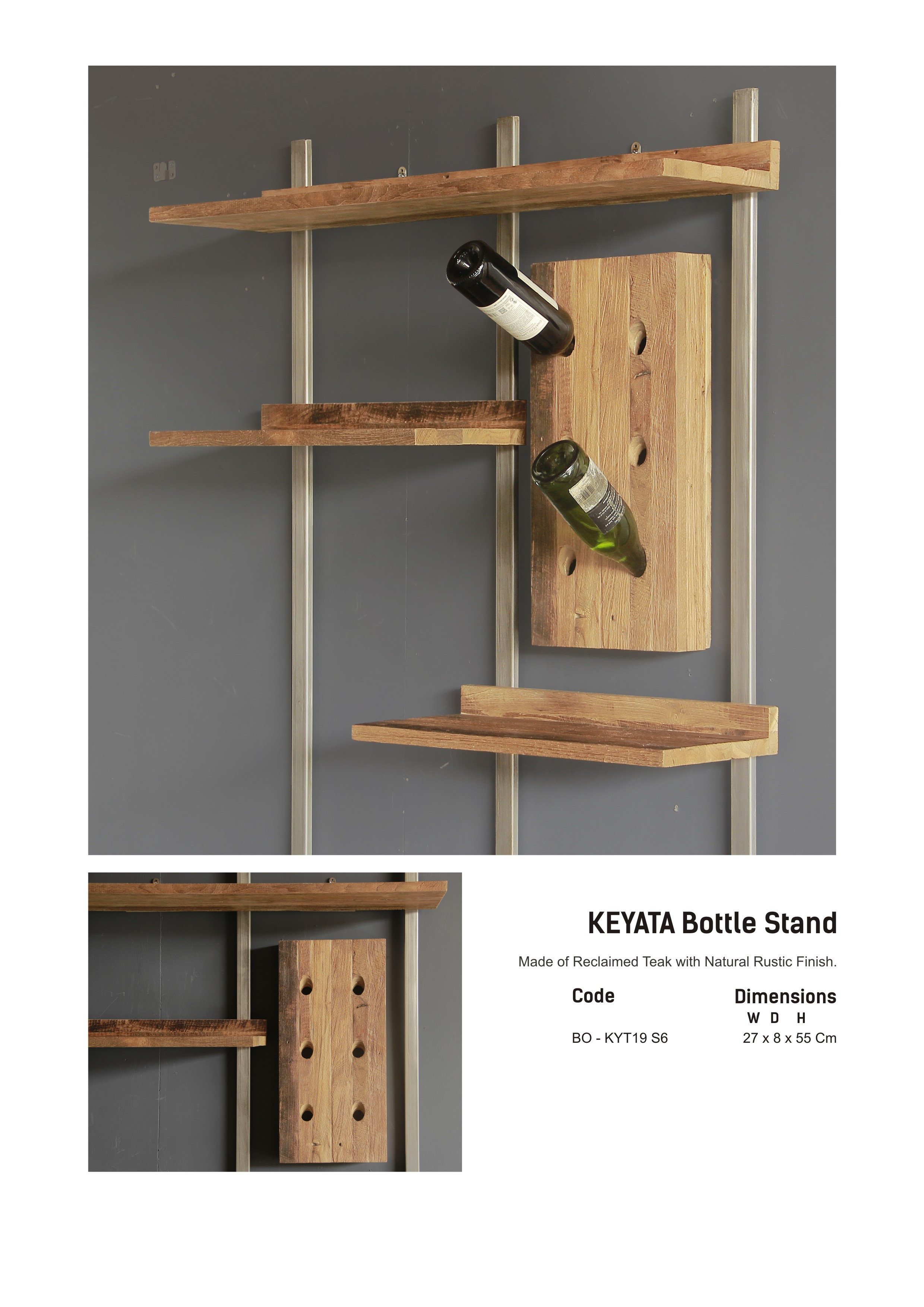 19. KEYATA Bottle Stand