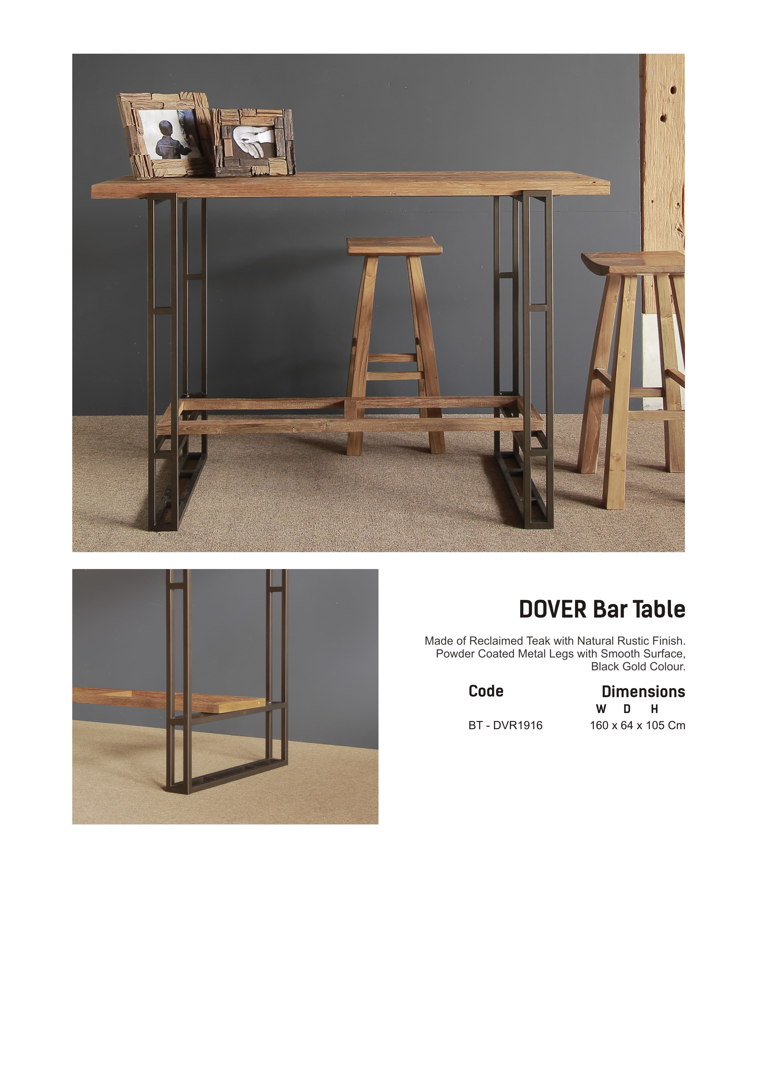 19. DOVER Bar Table