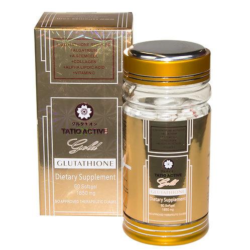 New Tatio Active Gold Glutathione Whitening Gel Capsules 1850mg