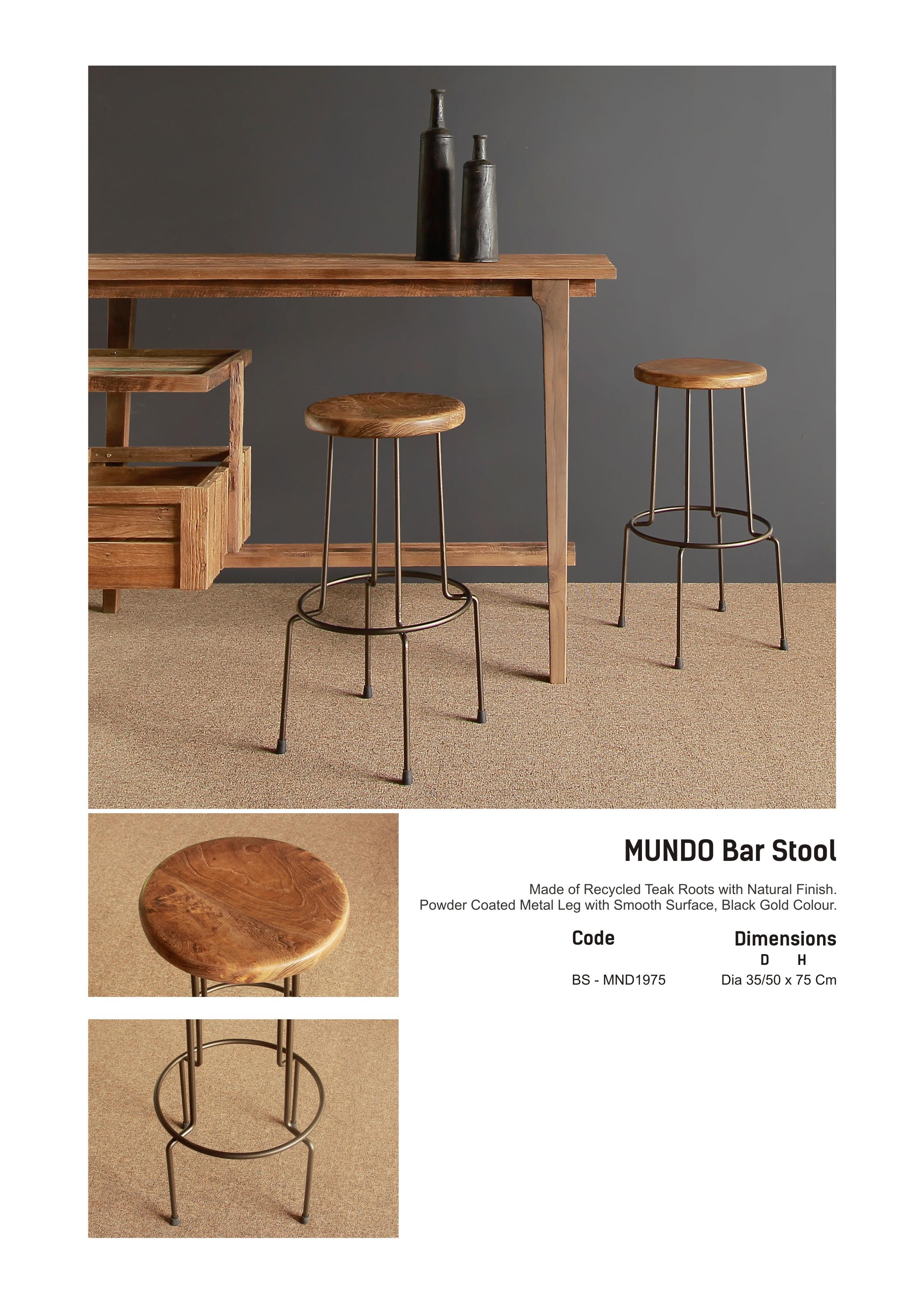 19. MUNDO Bar Stool - Copy