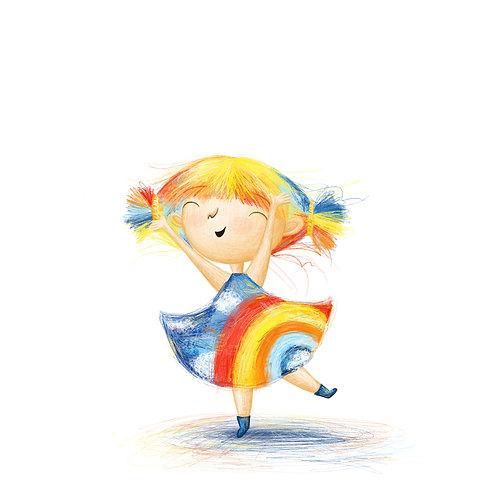 Rainbow Girl A5 Print