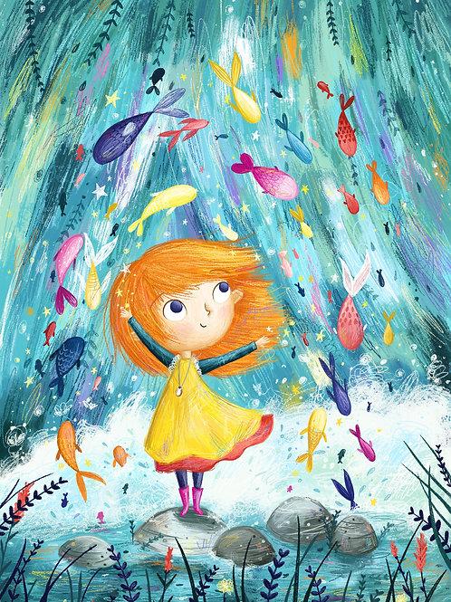 Colourful Fish A4 Print
