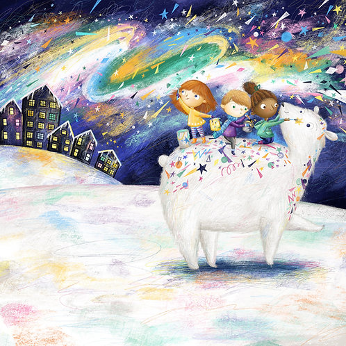 Polar Bear A4 Print