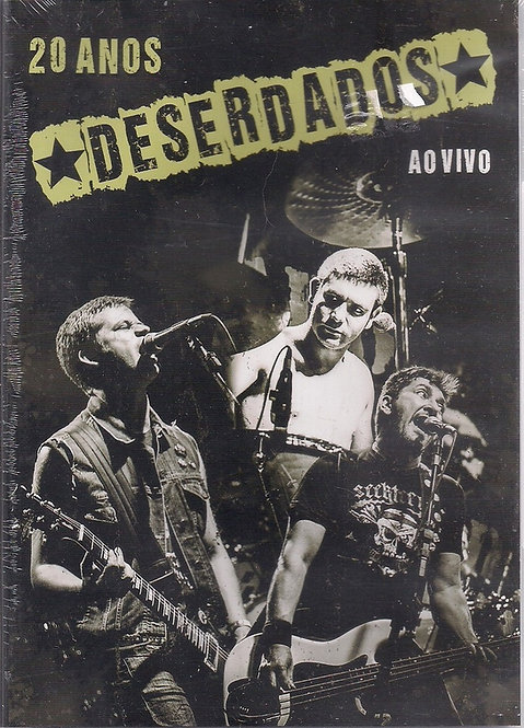 Deserdados - 20 anos ao vivo - DVD