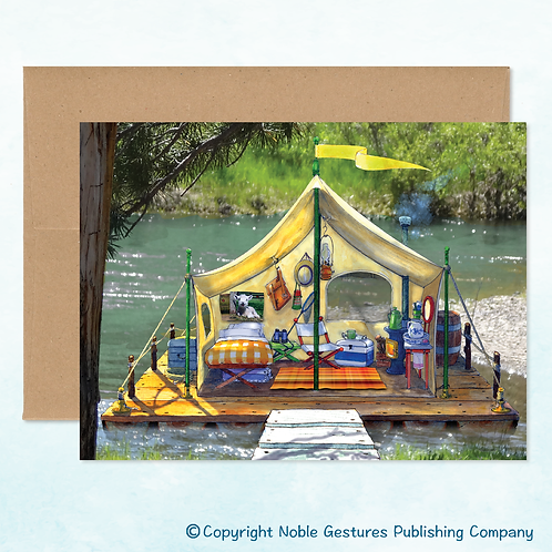 'Lucy's Raft' Note Card