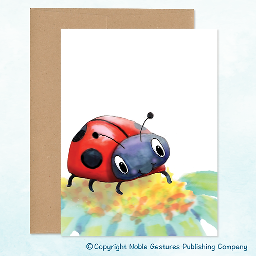 'Lady Bug' Note Card