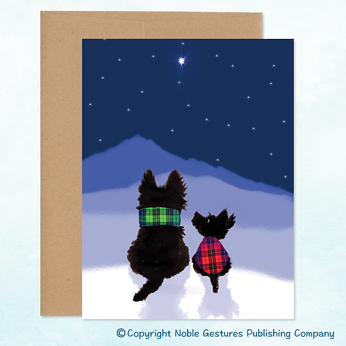 'Holiday Scotties' Note Card